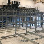 Construction in progress - steel framework in place